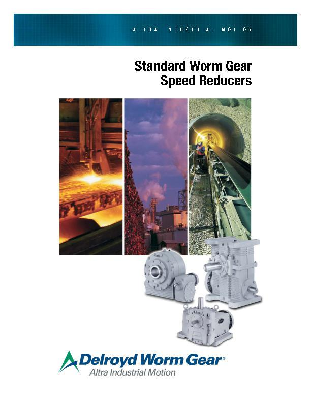 Standard Worm Gear Speed Reducers