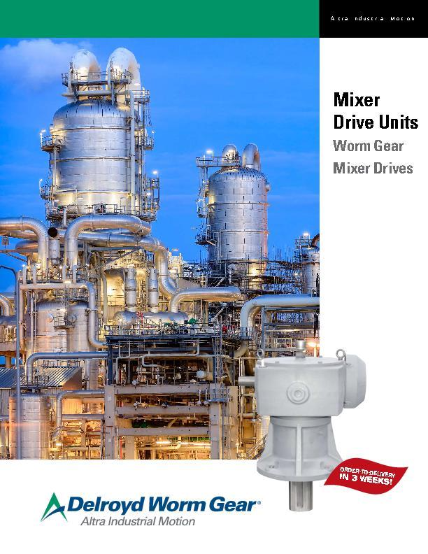 Mixer Drive Units Worm Gear Mixer Drives