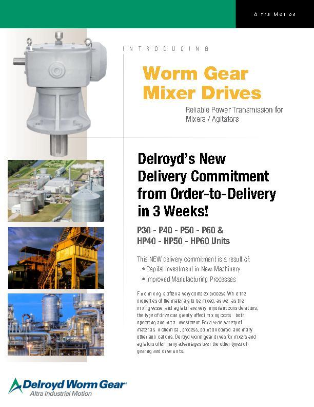 Worm Gear Mixer Drives
