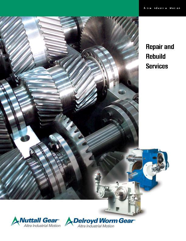 Nuttall Gear & Delroyd Worm Gear Repair and Rebuild Services